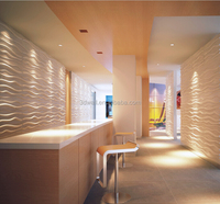 Inside Decorating Wood Tile Imitation Faux Leather 3d Wall Panel For Sale