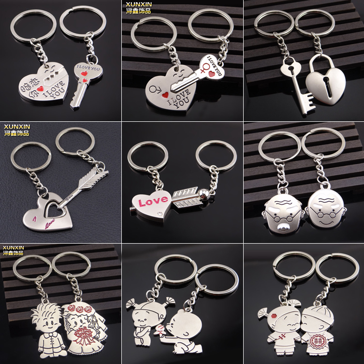 Wholesale Cute Loverly Swan Lovers Keychain Couple Stabilo Keyring ...