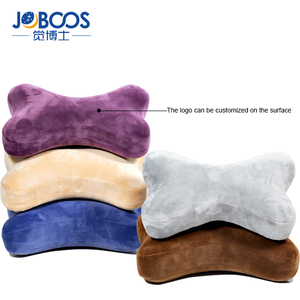 Wholesale Bone shaped Car Seat Headrest memory foam Neck pillow with elastic strap