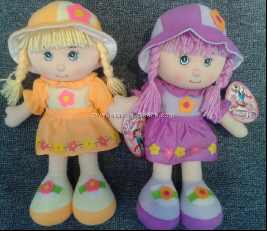 Cute Fabric Rag Girl Dolls Cheap Rag Dolls Cloth Baby Girl
