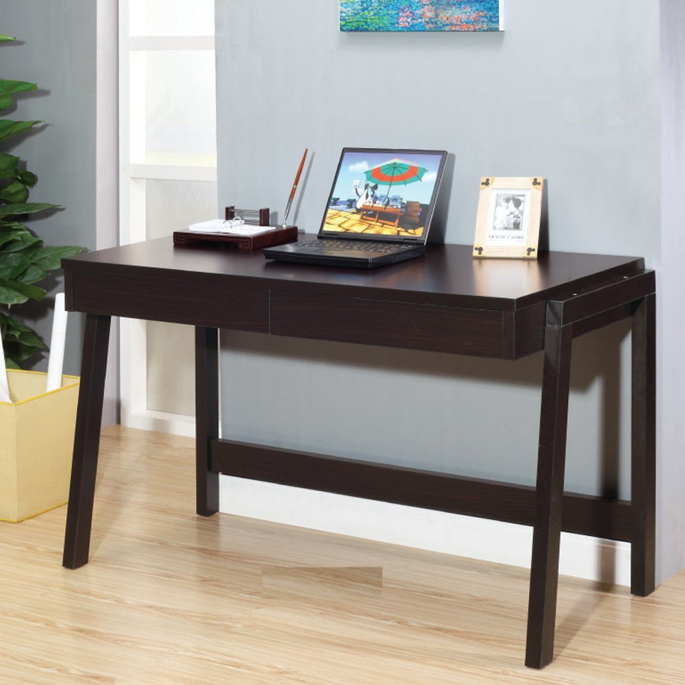 1PerfectChoice Home Office Furniture Computer Study Writing Desk Drawers Wood Espresso