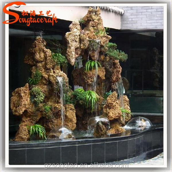 Prezzo di fabbrica resina fontane d 39 acqua falso pareti in for Fontane per interni