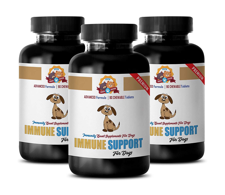 elderly dog treats - IMMUNE SUPPORT AND HEALTH - FOR DOGS TREATS - PREMIUM ADVANCED FORMULA - dog heart health - 270 Treats (3 Bottle)