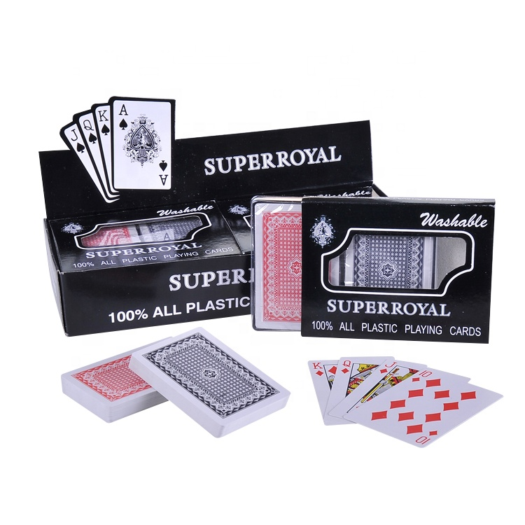 2019 super royal printing poker kaarten sets plastic speelkaarten
