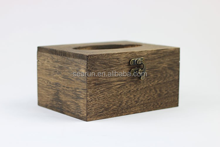 2017 New Design Creative Wooden Paper Facial Tissue Boxes