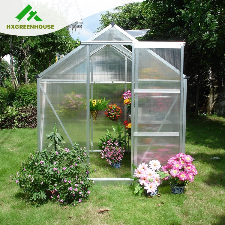Stupendous Outdoor Polycarbonate Aluminium Frame Small Garden Greenhouse For Flower And Seed Hx65213 Buy Small Garden Greenhouse For Sale Small Prefab Home Interior And Landscaping Ologienasavecom