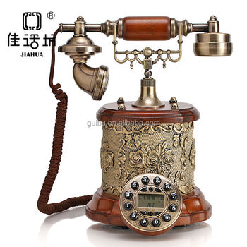 Idea Wooden Home Items Handmade Decorative Telephone For Gift Gbd