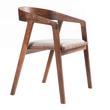 High Quality New Design European Style Wooden Cafe Chair With Cushion, Dining Room Chairs