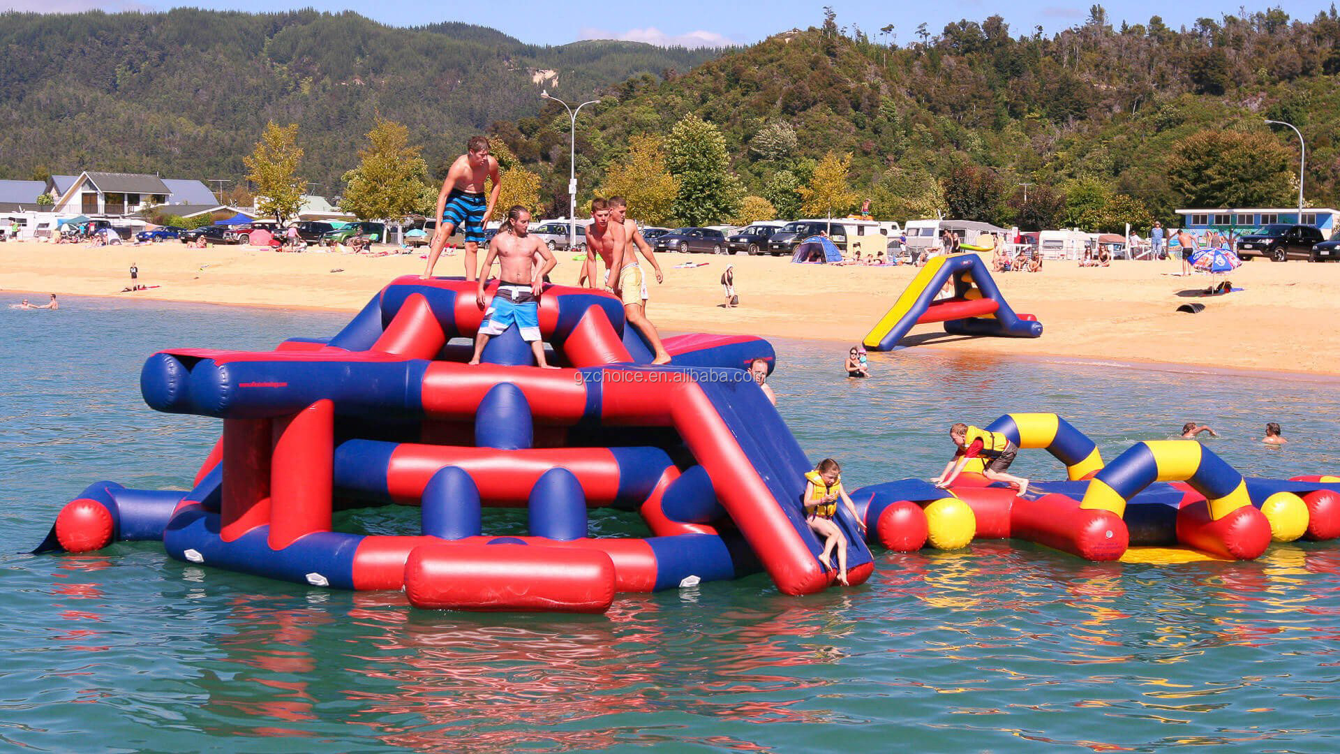 Commercial Use Adult Water Giant Inflatable Obstacle Course Floating Inflatable Water Park