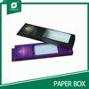 packing art paper gift box with clear pvc window
