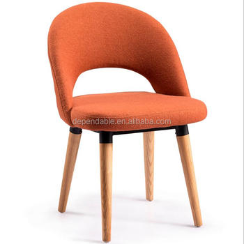 Replica Eero Saarinen Executive Side Chair With Wood Legs