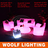 Popular Modern home leisure romote control color changing led Lighting Up Sofa Furniture