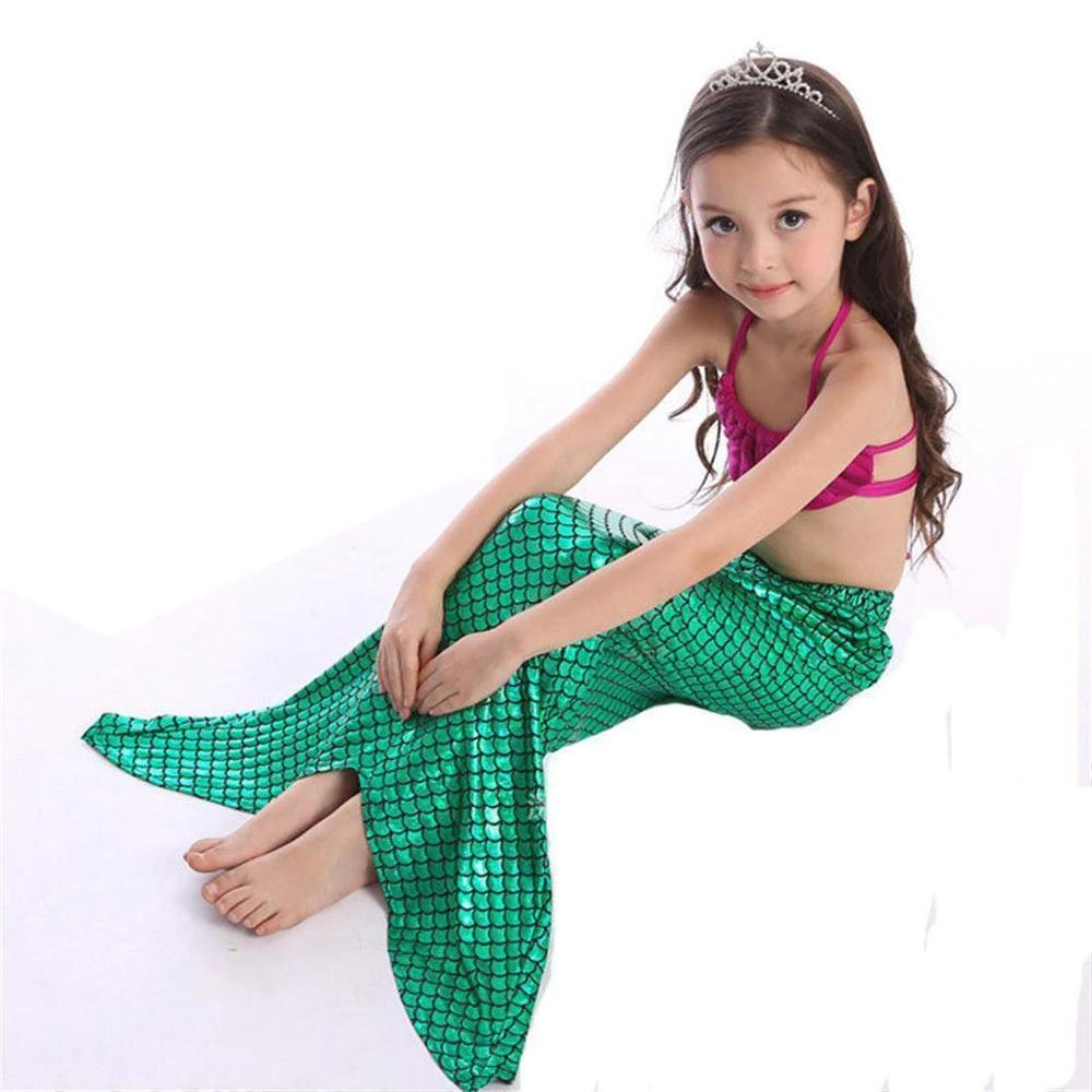 Mother & Kids 2018 Hot The Little Mermaid Tail Costume Princess Ariel Children Mermaid Tail With Fin Cosplay Kids For Girl Fancy Swimsuit Perfect In Workmanship