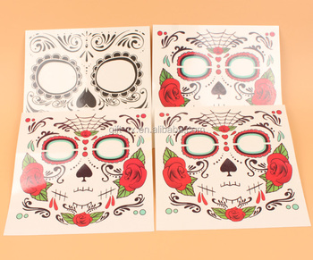 Halloween Decoration face tattoo stickers for Horror Cosplay Halloween Party