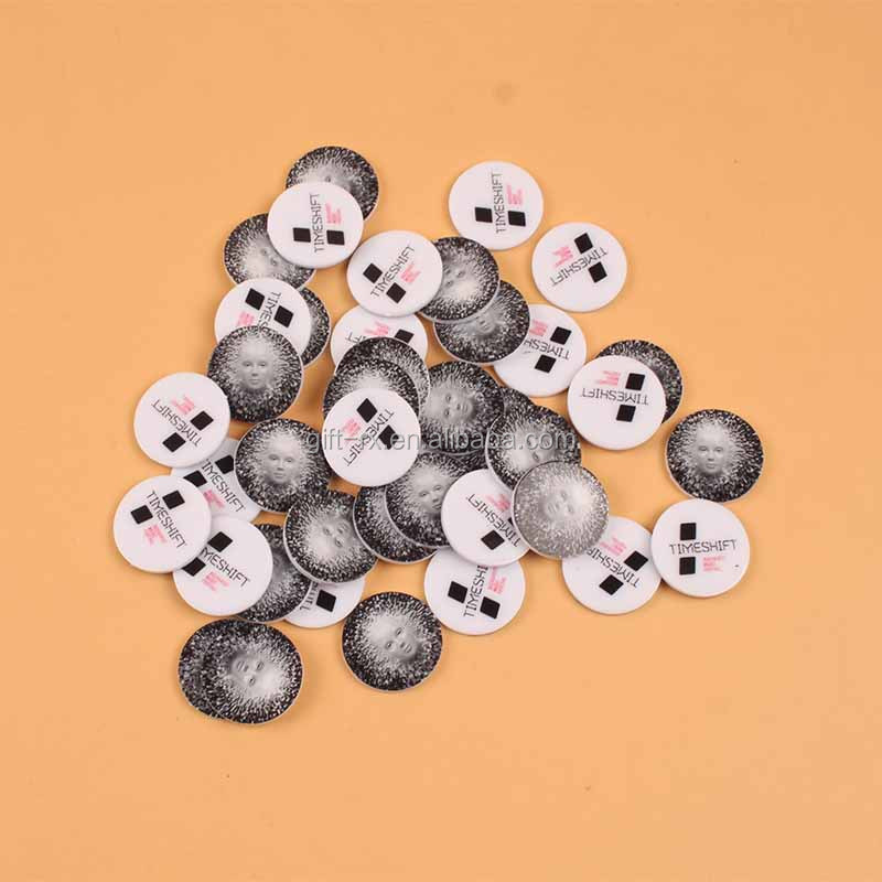 SGS wenzhou printed round custom plastic coins