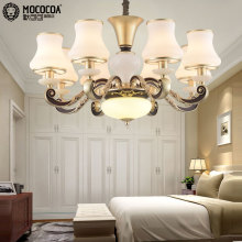 European chandeliers copper lamps living room lamps lighting the whole American restaurant lights chandelier bedroom lamp 112-8