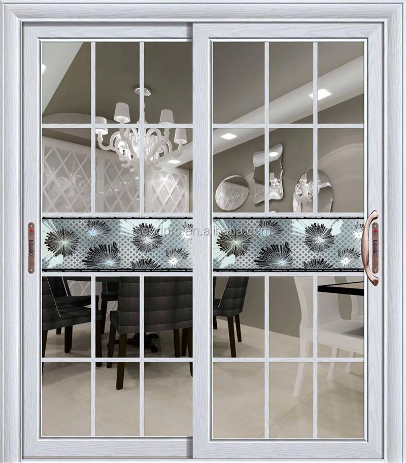 Interieur badkamer glazen schuifdeur met grill ontwerp deuren product id 541724363 - Badkamer kantelen ...