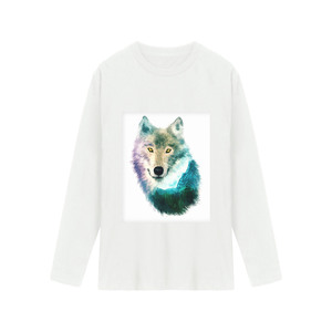 3D The Wolf Head Free Shipping High Quality 100% Cotton US Size Custom Print Men t Shirt