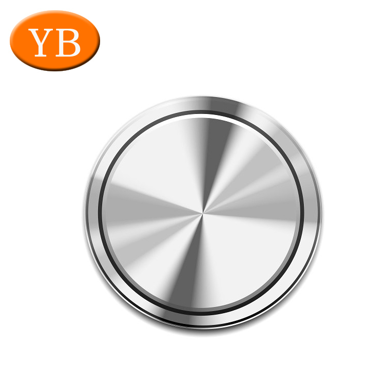 Brushed CNC Machined Button Blank Metal disc