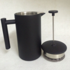 Black French Coffee Press Stainless Steel French Press Coffee Pot Maker