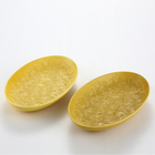 Wholesale home yellow ceramic dessert dry fruit plate decoration