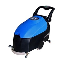 hand push walk behind electric automatic industrial machine dryer cleaning floor scrubber