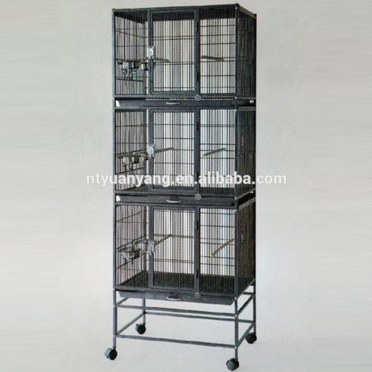 black metal wire bird parrot cage with feeders manufacturer