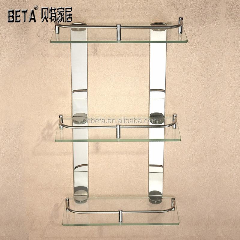 Estantes de vidrio templado vidrio endurecido estante de - Estanterias de cristal para banos ...