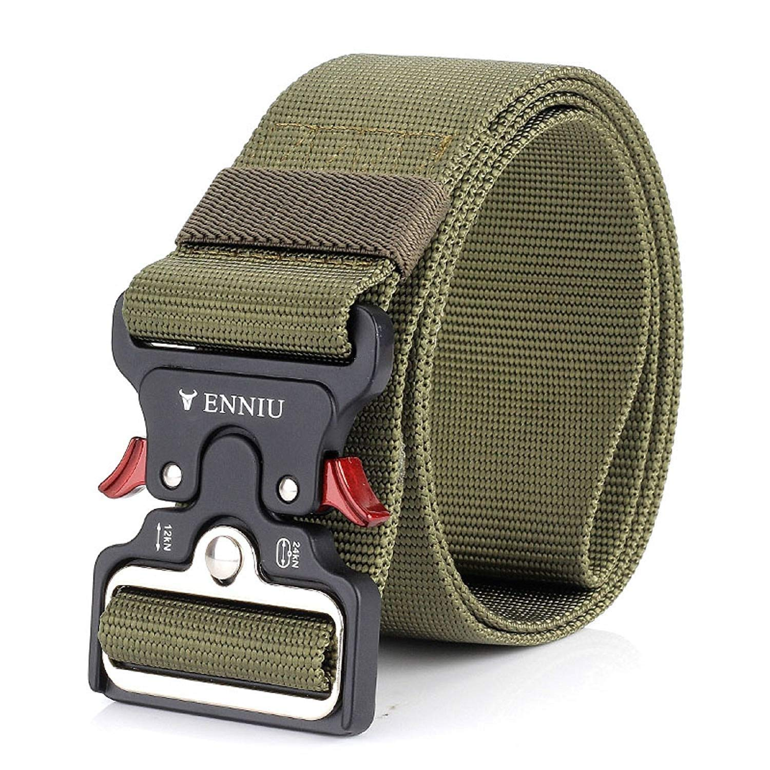 Outdoor Classic,Quick Dry XUEXUE Mens Outdoor Belt,Nylon Military Automatic Buckle Belt,Outdoor Durable Wide Waist Belt ,Convenient for Hiking//Camping Color : E, Size : 125cm
