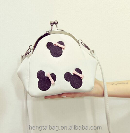 2016 the newest design cute Mickey bags popular mini shoulder bags pu leather