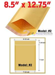 "100 (One Hundred) Size #1 Kraft Road Warrior® Self-seal Cushioned Bubble Mailer/Padded Envelopes (2 Fin with 1 1/2 Extra Long Flap). Outside Dimension is 8""x 13"" and inside dimension is 7 1/8"" x 11 1/8"".(variation +/- 1/5"")."
