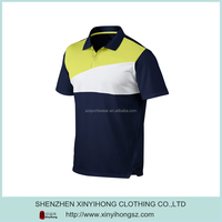 Classical Design Tree Tone Combinations Slim Fit Polyester Golf Shirt