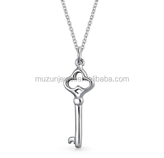 Hot New Jewelry 925 Sterling Silver Key to Her Style Pendant Necklace