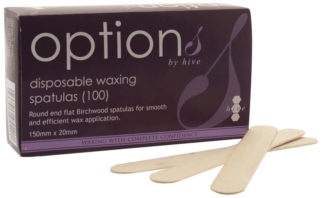 Hive of Beauty 100pcs Waxing Tool Disposable Wooden Spatulas Wax Tongue Depressor CODE: #HOB5540