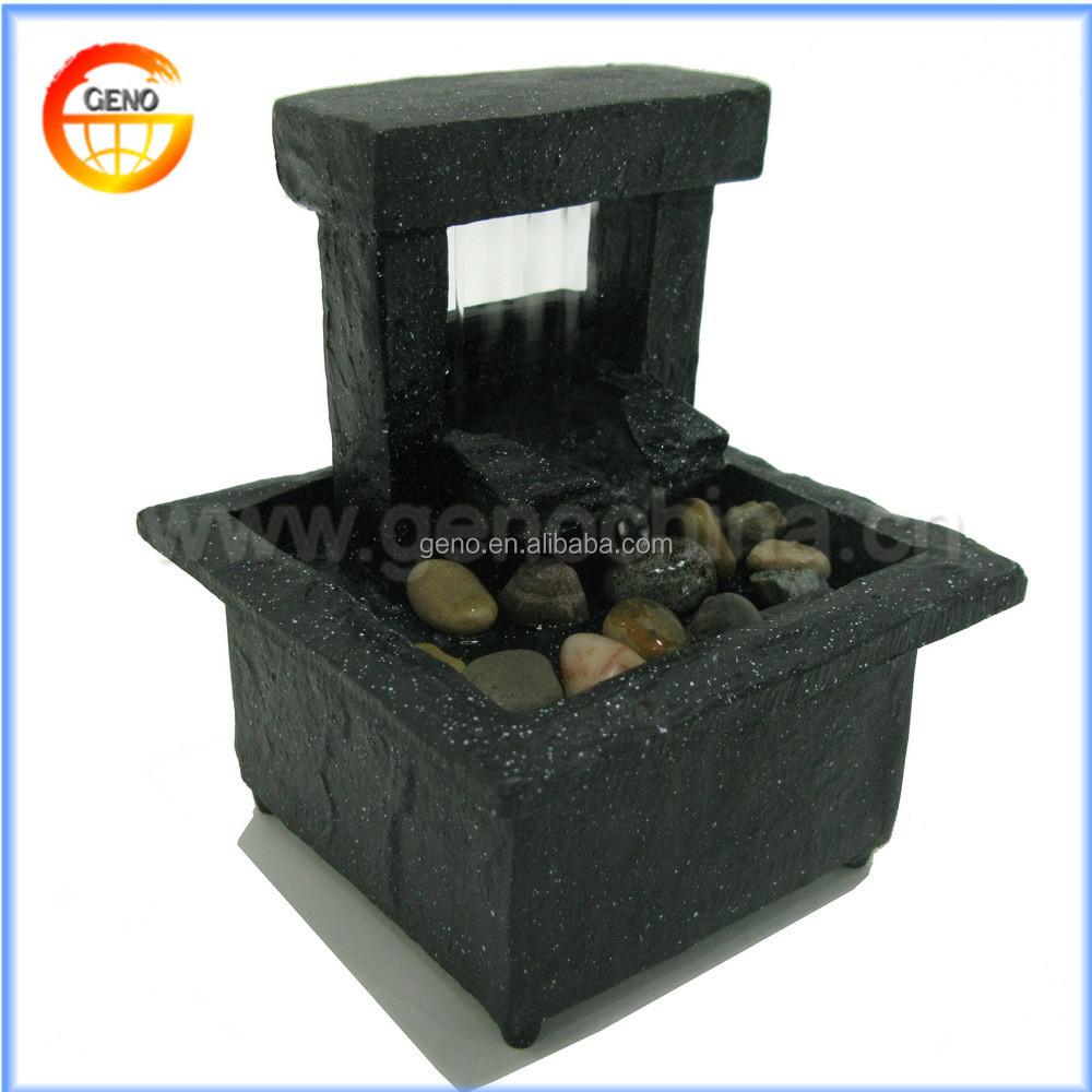 Portable Waterfall Fountain: Decorative Mini Portable Indoor Water Fountain