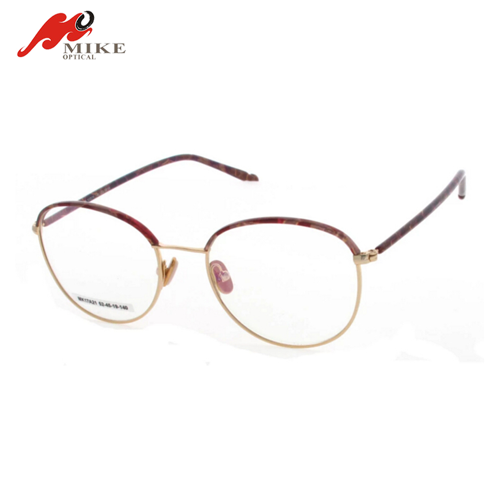 6997064b9c85f New Style Metal Gold Round Frame Glasses For Men Women