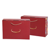 HOT SALE Red Corrugated Paper Cardboard Printed Shipping Carton Color Box For Custom Packaging Products With Hand Rope