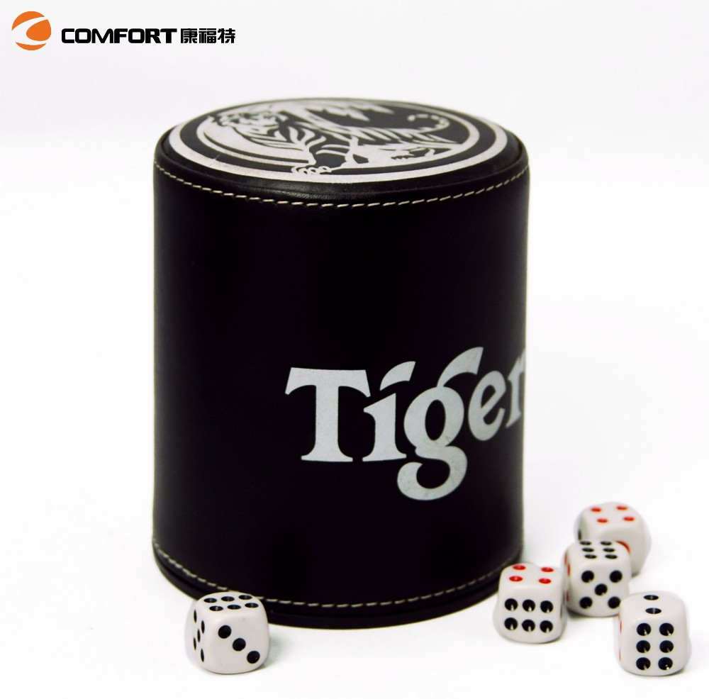 genuine durable custom leather dice shaker cup