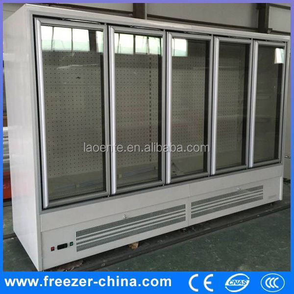 new style glass sliding door commercial supermarket display refrigerator for beverage electric cooler freezer warmer