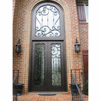 New Wrought Iron Safety Grill Window Double Door Gate Designs For Home