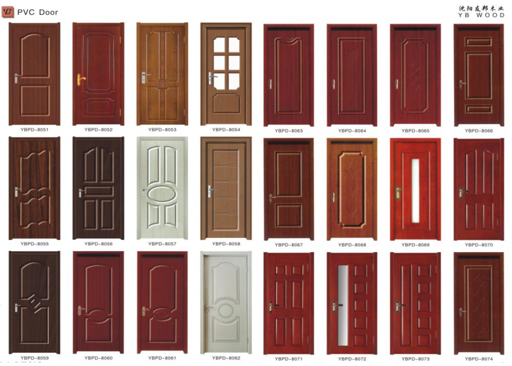 Good Quality Latest Design Pvc Main Door Wooden Double