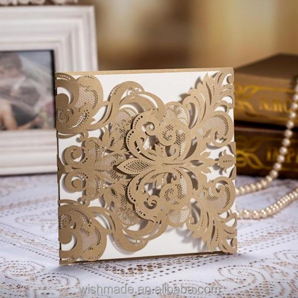 2017 Luxury Indian Wedding Cards Laser Cut Cw3109 Buy Indian