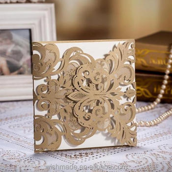Cw3109 Luxury Indian Wedding Cards Laser Cut