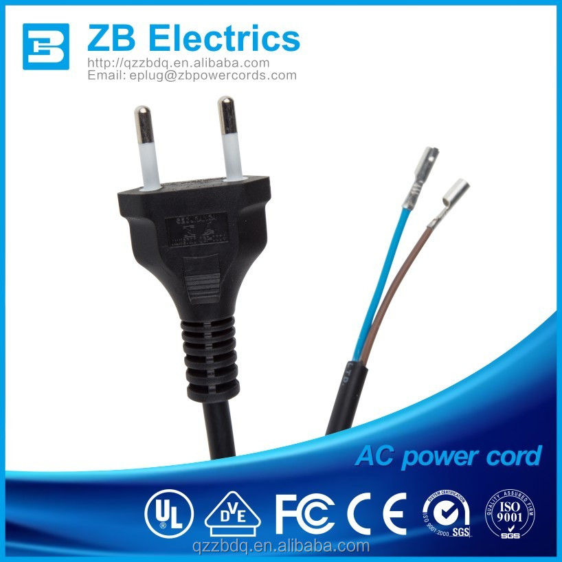 Brazil D14 ac power cord 2 pin cable, eletric extension cord
