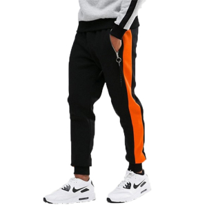 Soft-touch sweat fabric Hype Skinny Joggers pants In Black With Orange Stripe