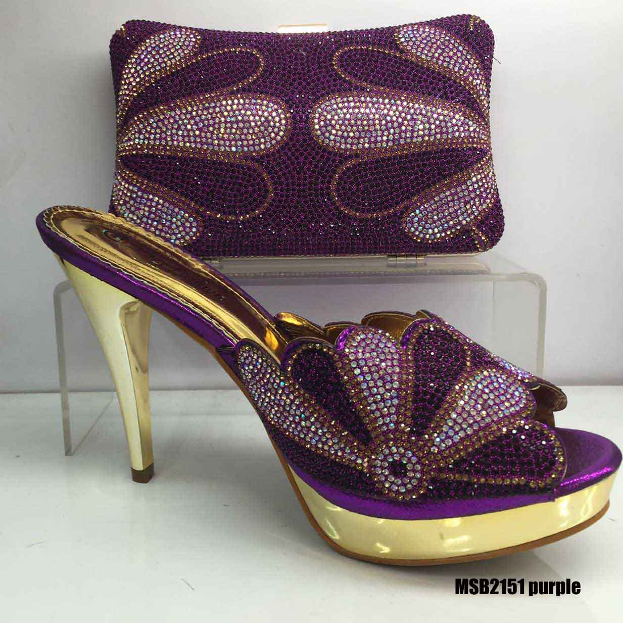 wholesale ankara crystal women quality shoe for High heel bag ladies italian shoes and A5BwxqgF