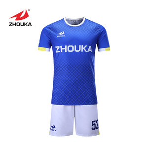 Best quality low MOQ soccer kit cheap soccer uniform custom soccer jersey set for men