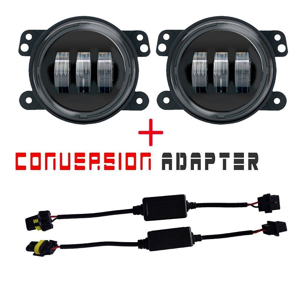 Led Fog Light Harness 2504 Mediatown 360 H16 Ps24w Adapter For Lights Drl Relay Wiring Ebay Turbo Sii Pair Projector Lens 4 Inch Bulb Lamp Jeep Wrangler Tomall P13w Male To 5202 Psx24w Female Retrofit