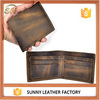 Distressed leather custom wallets leather men rfid walllet