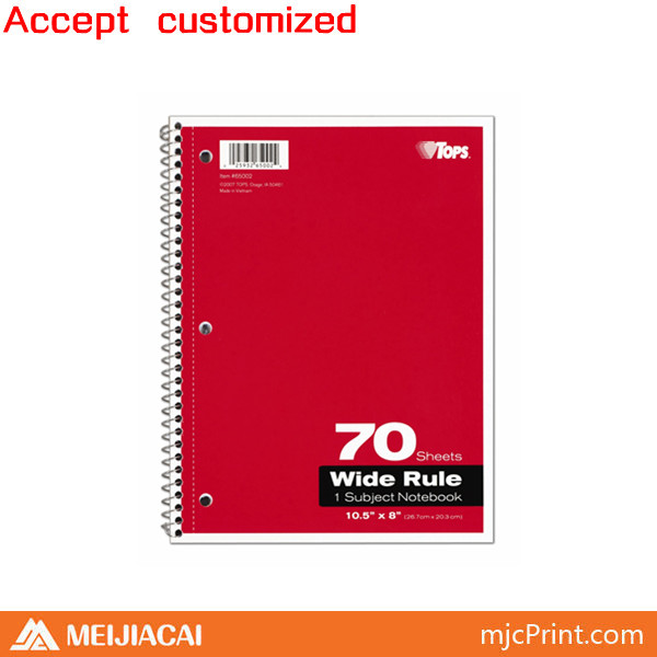 2014 factory price customized school notebook cover designs